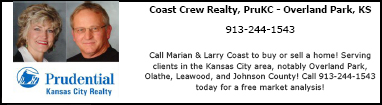 Directory Ad for Marian and Larry Coast, Prudential Kansas City Realtors