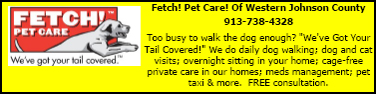 Directory Ad for Fetch! Pet Care of Western JoCo