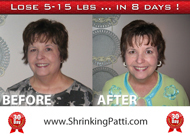 lose weight with Shrinking Patti